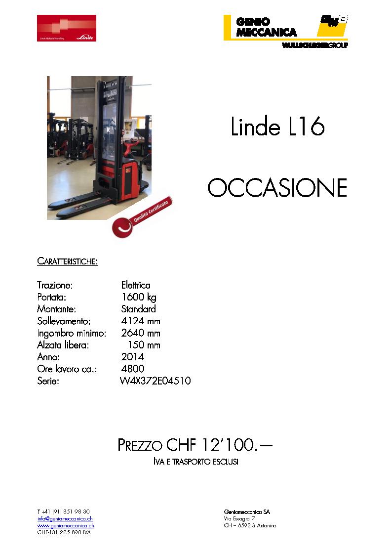 Linde L16 2014