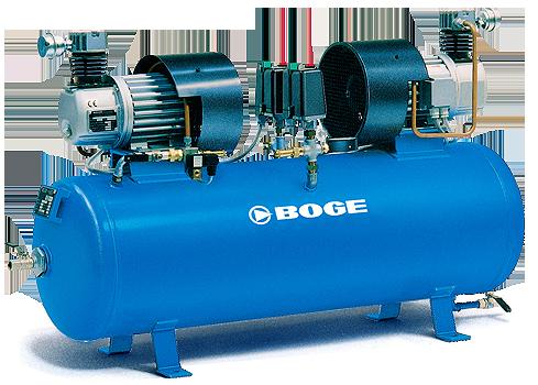 Un compressore a pistone oil-free del marchio Boge