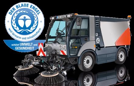 Una spazzatrice per pulizia stradale del marchio Hako