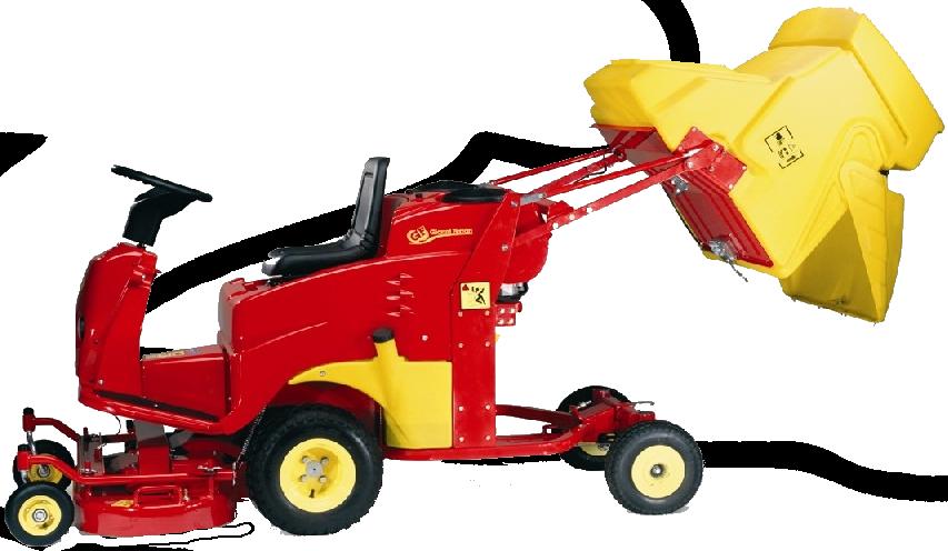 Un trattore tagliaerba del marchio Gianni Ferrari
