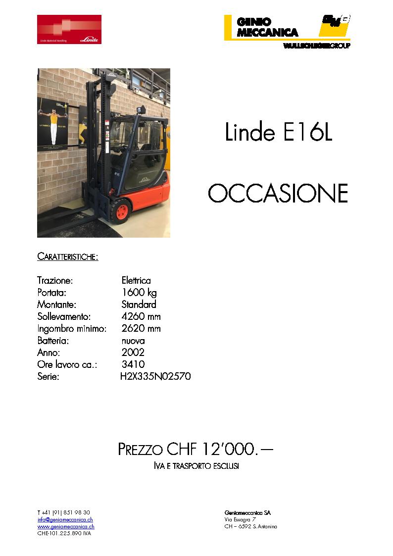 Linde E16 L 2002